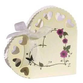 50x Heart Box - Ivory