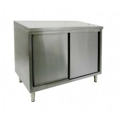24 X 36 Stainless Steel Storage Dish Cabinet - Sliding Doors