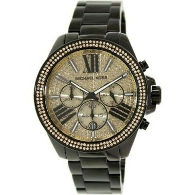 Michael Kors MK5961 Wren Black Ion-plated Crystal Pave Chronograph Dial watch