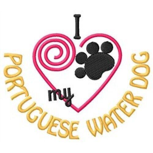 "I ""Heart"" My Portuguese Water Dog Sweatshirt 1443-2 Sizes S - XXL"