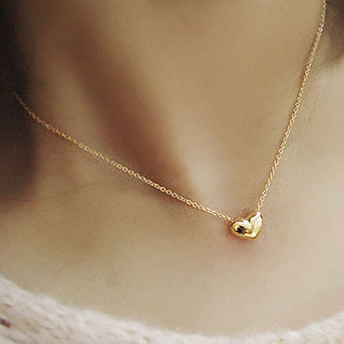 $4.99 - Gold Plated Heart Pendant Bib statement Chain Necklace Fashion Women Jewelry