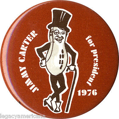 Classic 1976 Jimmy Carter Mr. Peanut Campaign Button (5100)