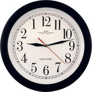 UNUSUAL BACKWARDS CLOCK REVERSE MOVEMENT GREAT FUN ITEM FREE P&P