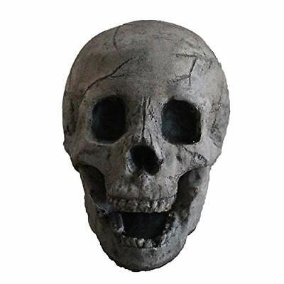Fireproof Aged Dark Grey Fire Pit Human Skull Log for Campfire Halloween - Halloween Fire Pit