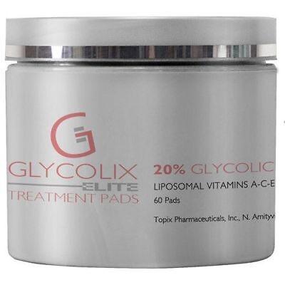 (Glycolix Elite Treatment Pads 20% 60 Pads Brand New Sealed, Fresh Topix)