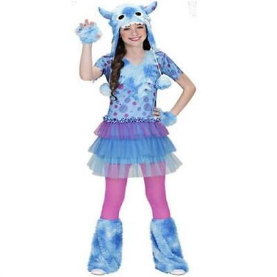 SPACE MONSTER Mädchen Kostüm blau lila Kinder Karneval Gr. 128, 140, 158