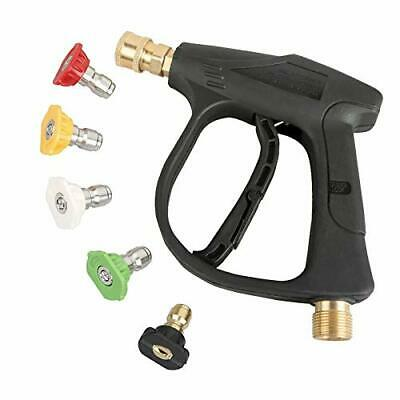 Sooprinse High Pressure Washer Gun3000 PSI Max with 5 Color Quick Connect Noz...