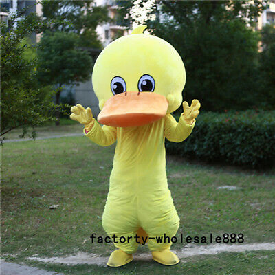 Big Halloween Costumes 2019 (2019 Adults Top quality Halloween Big Yellow Duck Mascot Costume Animal)