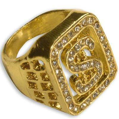 ho Rapper Gangster Mafia Pimp Karneval Fasching #2112 (Dollar Ring)