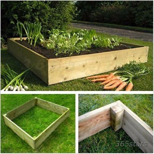 Raised Garden Bed Starter Kit 4ft x 4ft Flowers Vegetables Garden Bedsin Bonnybridge, FalkirkGumtree - This wooden raised bed for vegetables is the perfect vegetable planter for growing carrots, lettuce, cabbage, onions and much more. Made from pressure treated rough sawn wood to increase longevity, these vegetable planters can be stacked on top of...