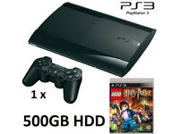 PS3 Super Slim 500GB HDD + LEGO Harry Potter Game Bundle