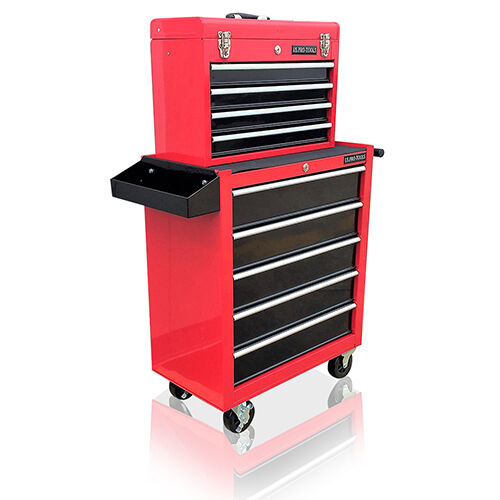 377 us pro tools red black affordable tool chest rollcab. Black Bedroom Furniture Sets. Home Design Ideas