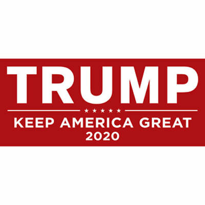 Donald Trump For President 2020 Red Bumper Sticker Keep Make America Great Decal