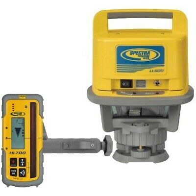 Spectra Precision Laser Level Ll500hl700 Receiver Alkaline Batteries