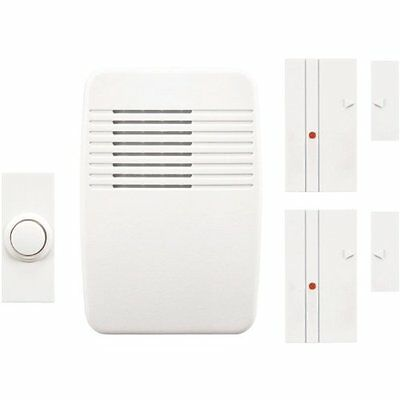 Heath Zenith Sl-7352-02 Wireless Plug-in Chime Kit With Entry Alert White