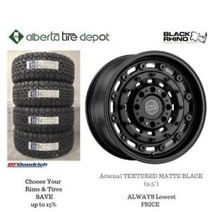 OPEN 7 DAYS LOWEST PRICE Save Up To 10% Black Rhino Arsenal TEXTURED MATTE BLACK (9.5). Alberta Tire Depot.