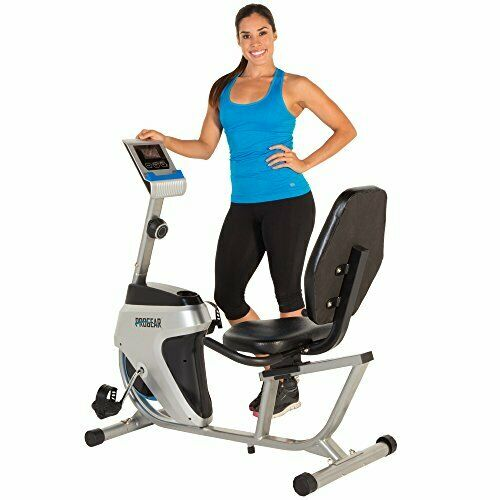 Wide Display Smooth Magnetic Tension 14 Level Resistance Recumbent Bike Station