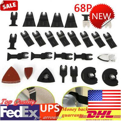 Us 68pcs Oscillating Saw Blades Multi Tool Accessories Kit