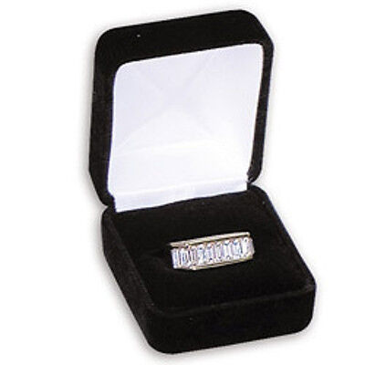6 Large Black Velvet Ring Jewelry Display Gift Boxes