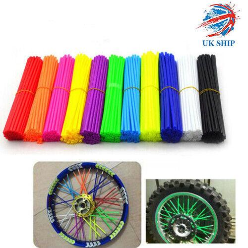 Color : Sky Blue 10 Colors Motocross Wheel Covers Dirt Bikes 72Pcs Spoke Skins