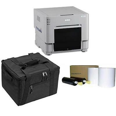"DNP DS-RX1HS 6"" Dye Sublimation Printer, Bundle with 4x6"" Media, 2 Rolls"