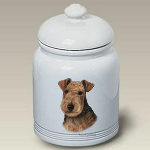 Lakeland Terrier Ceramic Treat Jar TB 34315