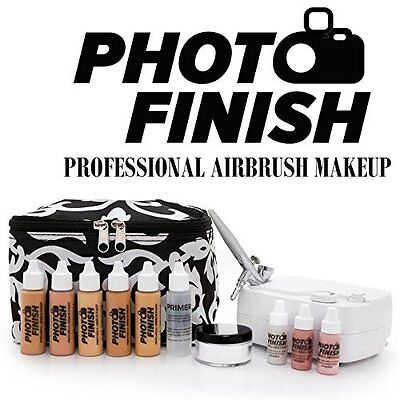 Best Airbrush Cosmetic Makeup System Kit 5 Fair to Medium Shades w/ Matte