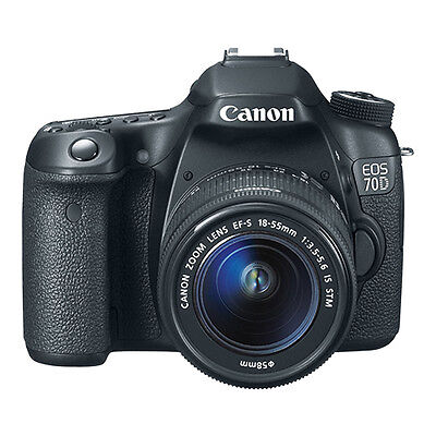 Canon EOS 70D Digital SLR Camera Body + 18-55mm IS STM Lens Brand New