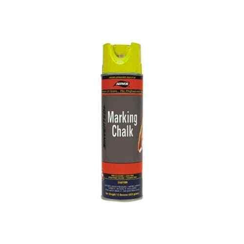 Aervoe 218 20-Oz Lead-Free Non-Clogging Can Temporary Marking Chalk Spray,Yellow