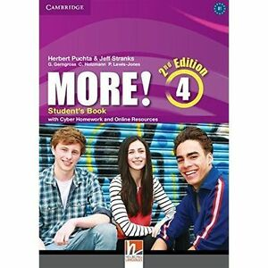 More! Level 4 Students Book with Cyber Homework and Online Resources  BOOK NEW