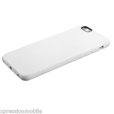 For Apple iPhone 6 PLUS Ultra Thin WHITE Rubber Silicone Hybrid Hard Case Cover