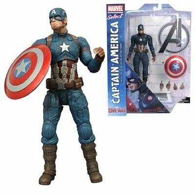 Marvel Select CAPTAIN AMERICA Civil War movie 7in Action Figure =FREE SHiP=