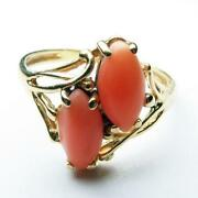 14k Coral Ring
