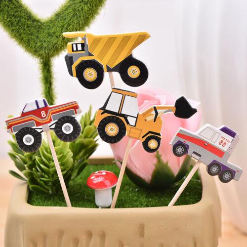 24x modello di auto toppers cupcake picks decorazione festa di compleanno XD