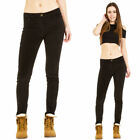 Corduroy Black Skinny Pants for Women