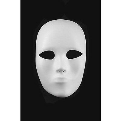 Full Face Heavyweight Plastic Mask Theater Halloween Costume NEW