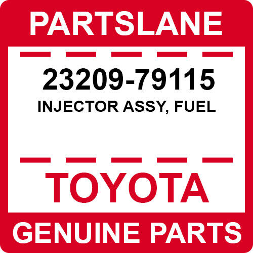 23209-79115 Toyota Oem Genuine Injector Assy, Fuel