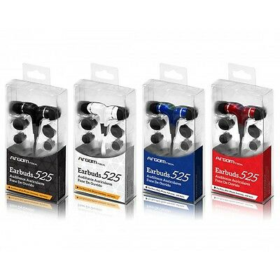 2 of Argom Tech Noise Reducing Earbuds 525 in black, red, white or blue