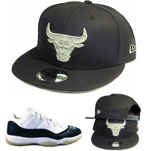 57b8ce444850e New Era Chicago Bulls Navy Snapback Hat Match Air Jordan 11 Navy SnakeSkin  Cap