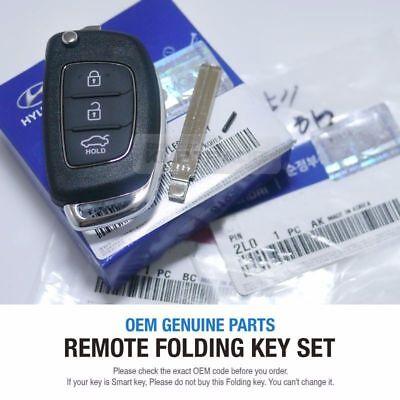 OEM Keyless Entry Fob Folding Key Remote Control For HYUNDAI 15-17 Sonata LF i45
