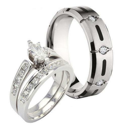 His and hers wedding ring sets ebay for Wedding rings his and hers sets