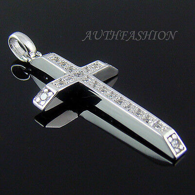 273S Womens Sterling Silver 925 Cross Pendant Swarovski Crystal for Necklace
