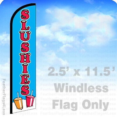 Slushies - Windless Swooper Feather Flag 2.5x11.5 Banner Sign - Bf