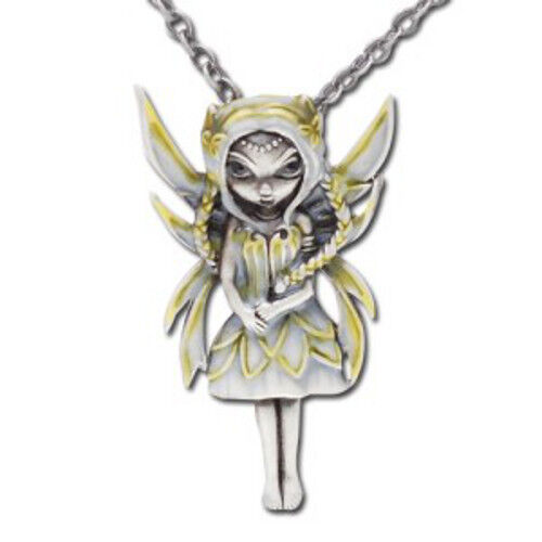 SILVER & GOLD Fairy Necklace Jasmine Becket-Griffith Strangeling faery pendant