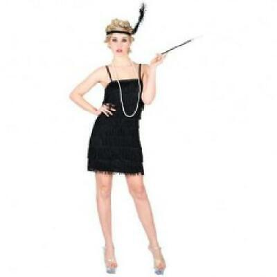 Black Flapper Showtime Girls Fancy Dress 20s - Girls Fancy Flapper Kostüm