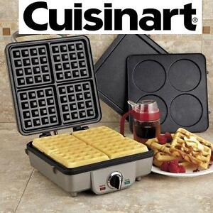 NEW CUISINART BELGIAN WAFFLE MAKER COMES W/ PANCAKE PLATES 102715064