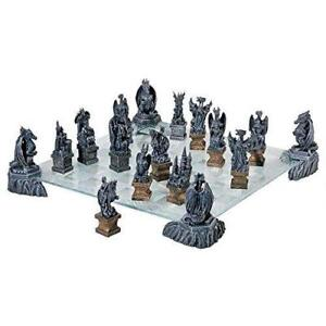 New Design Toscano CL92560 Dragons of the Realm Chess Set, PICKUP ONLY - DI8