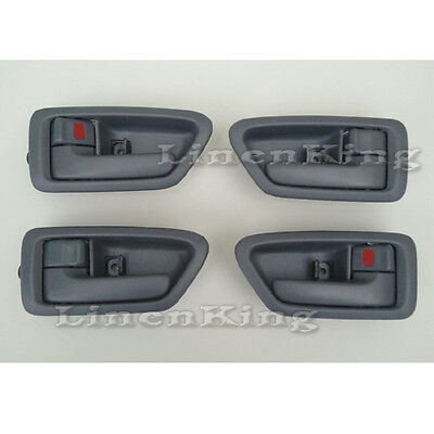 Inside Door Handle Front Rear Left Right Set 4 Gray Fits 97-01 Toyota (01 Toyota Camry Door Handle)