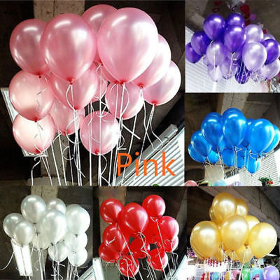 100pcs Colorful Latex Balloon Pearl Wedding Birthday Bachelorette Party 10 inch - Balloon Latex