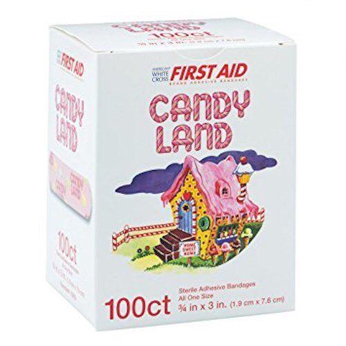 """Dukal - Candy Land Adhesive Bandaids, 3/4"""" x 3"""", 100/Box. NE"""